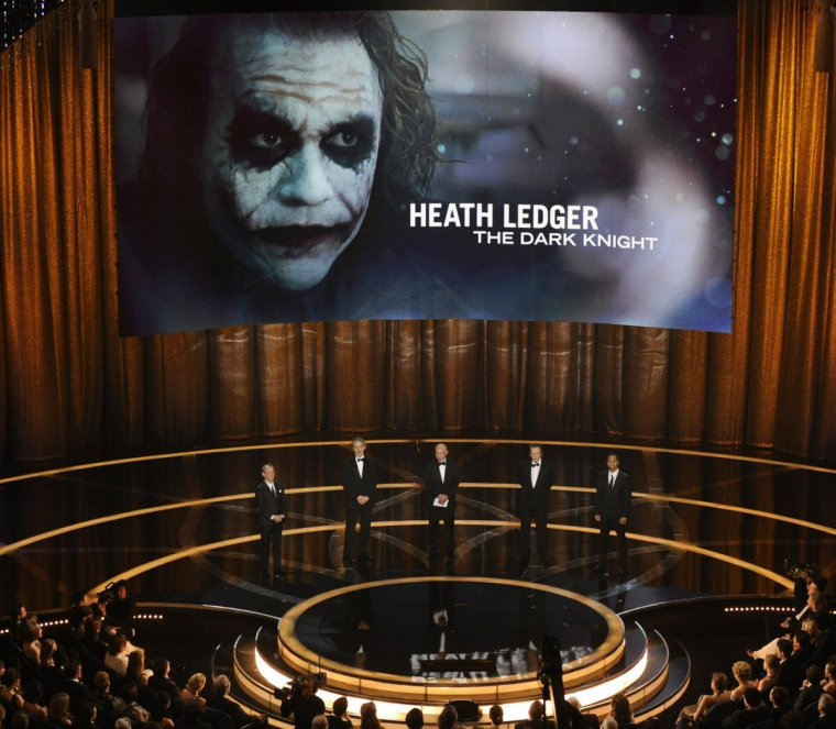 heath ledger best supporting actor academy award 2009 for the joker in the dark knight